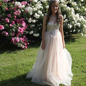 Dresses & Skirts - Rhinestone Bodice Corset Princess Tulle Prom Dress